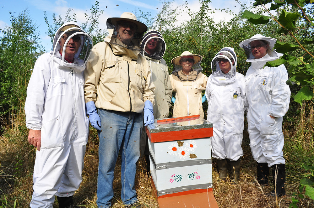 The team who rescued the Feral colony of bees