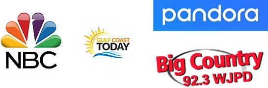 NBC, Gulf Coast Today, Pandora, Big Country Logo