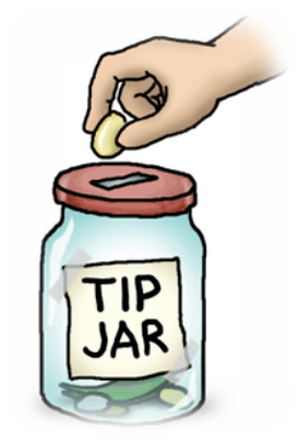 Tip Jar Faded Edges
