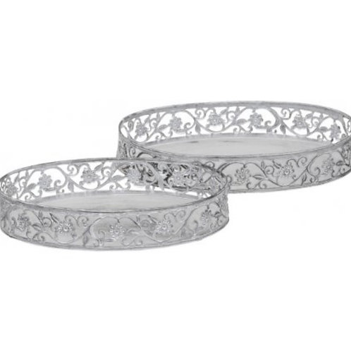 Oval tray - set of two