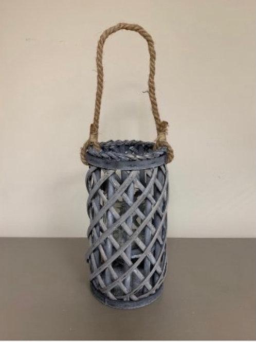 Grey woven lantern 30cm