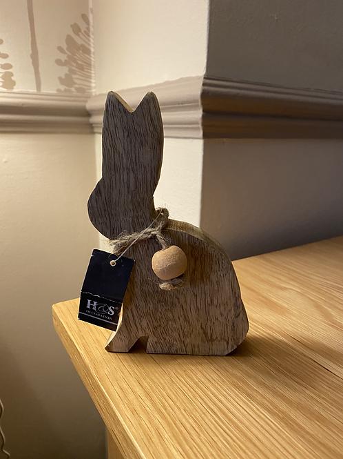 Wooden rabbit decoration 16cm