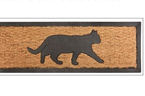 Rubber & coir cat doormat