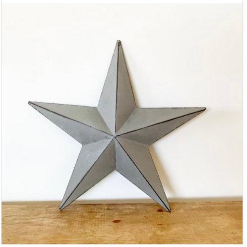Grey metal barn star 32cm