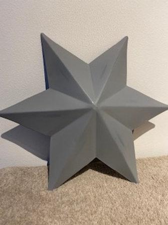 Metal wall star grey 30cm