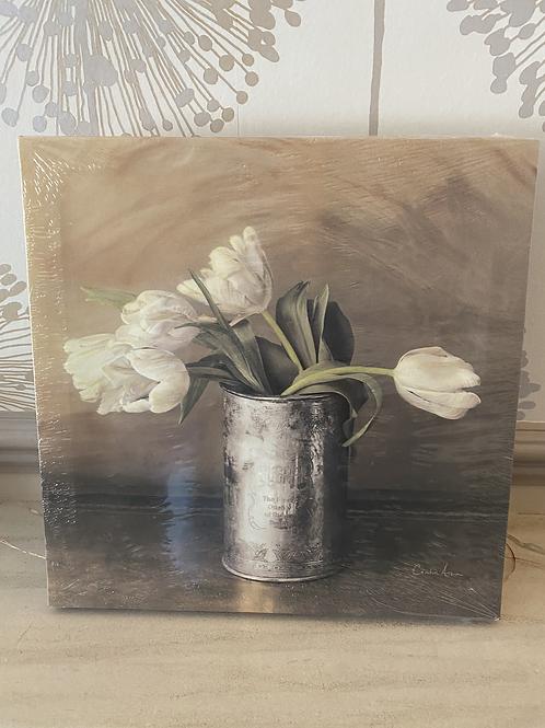 Canvas tulip wall hanging - Design 2