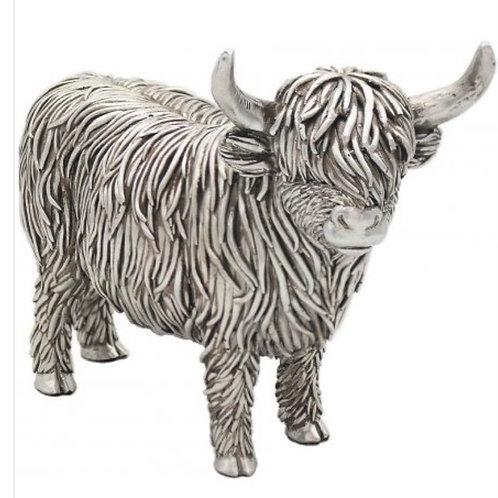 Stewie the silver highland cow 19cm