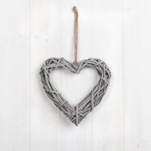 Rattan heart 20cm