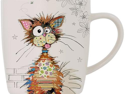 Bug Art Ziggy Cat Design Mug In Gift Box Kooks 9 cm