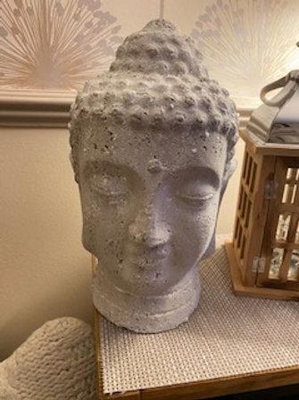 Buddha head grey 30 cm
