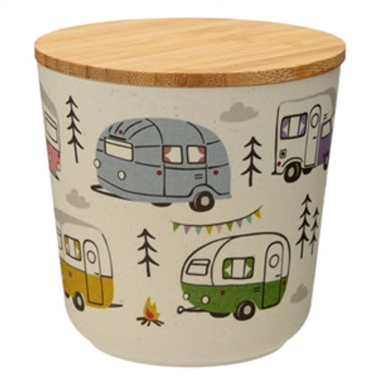 Campervan bamboo storage jar