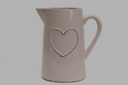 Shabby Chic Cream Heart Design Jug