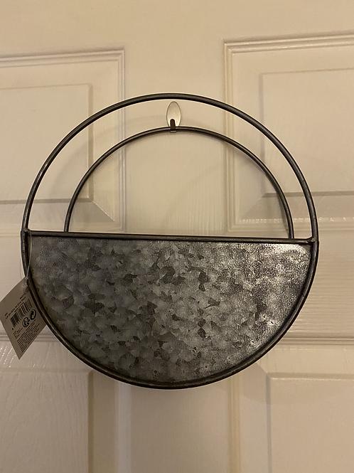Zinc wall planter 24cm