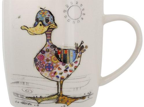 Bug Art Dotty Duck Design Mug In Gift Box Kooks
