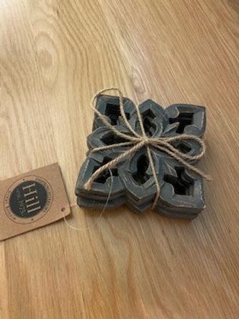Grey wash coasters - set of four