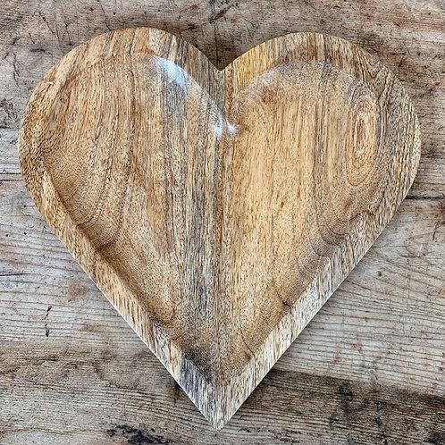 Natural Wooden Heart, 25cm