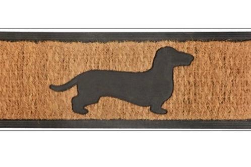 Rubber & coir dog doormat