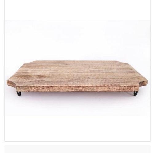 Wooden chopping board on legs 50cm