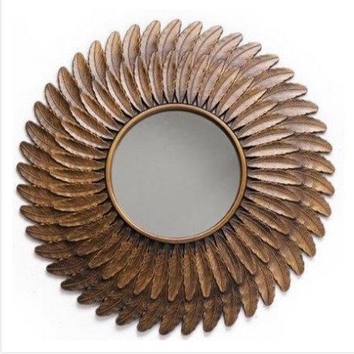 Decorative feather mirror