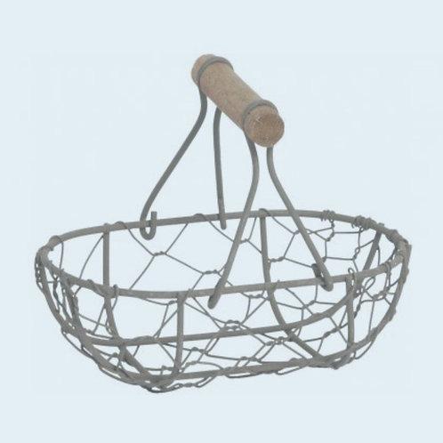Rustic wire basket with handle 12cm