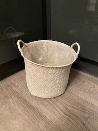 Seagrass basket whitewashed
