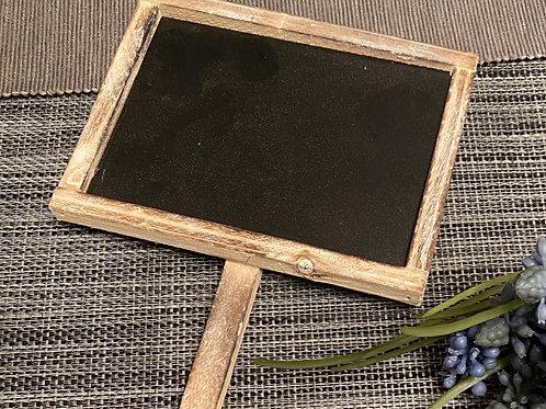 Wooden blackboard planter stake