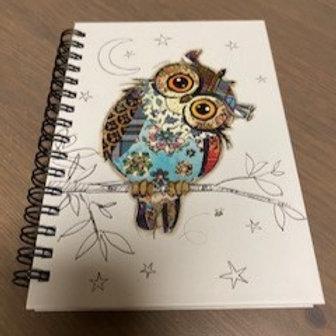 Bug Art Owen Owl Design A6 Notebook