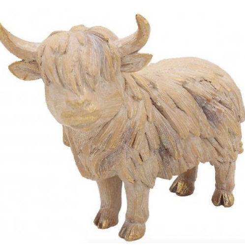 Colin the driftwood highland cow