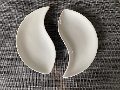 Cucina half and half serving plate