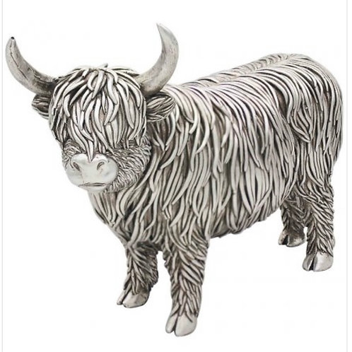 Hamish the silver highland cow 26cm