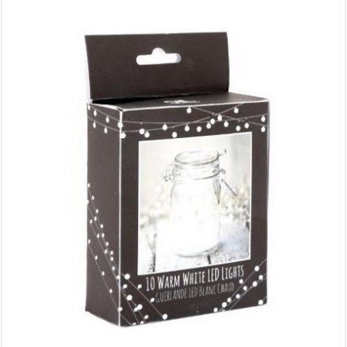Warm white LED string battery lights