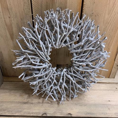 Natural Twig Wreath, 44cm