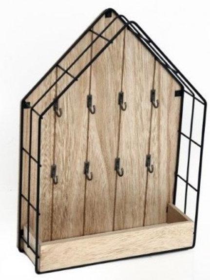 Wood & Wire House Key Storage Unit