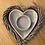 Thumbnail: Grey heart tea light holder