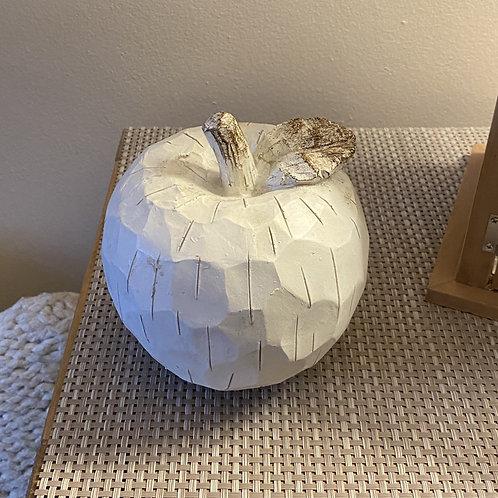 Apple ornament white 13cm