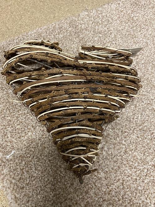 Heart Knotty Vine Natural 20cm