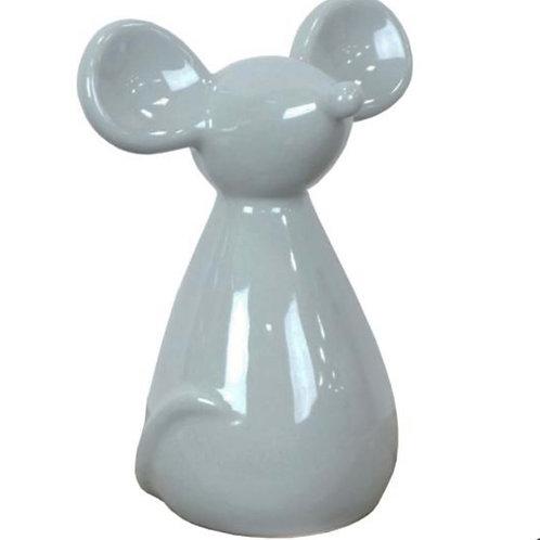 Ceramic mouse grey 14.5cm