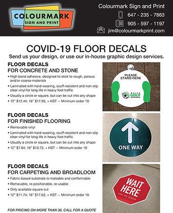 COVID-19 FLOOR DECALS stickers