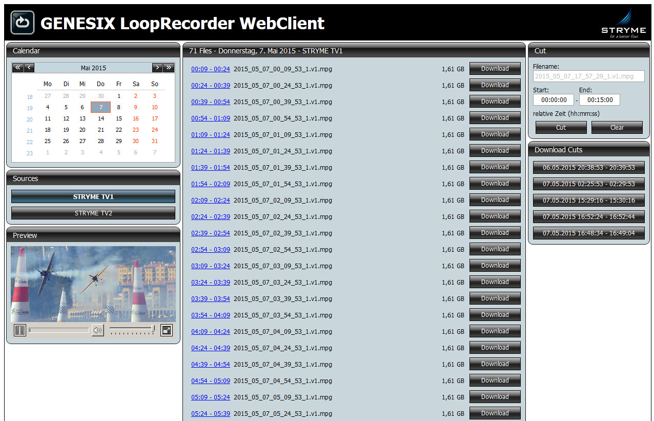 Loop Recorder Web Client