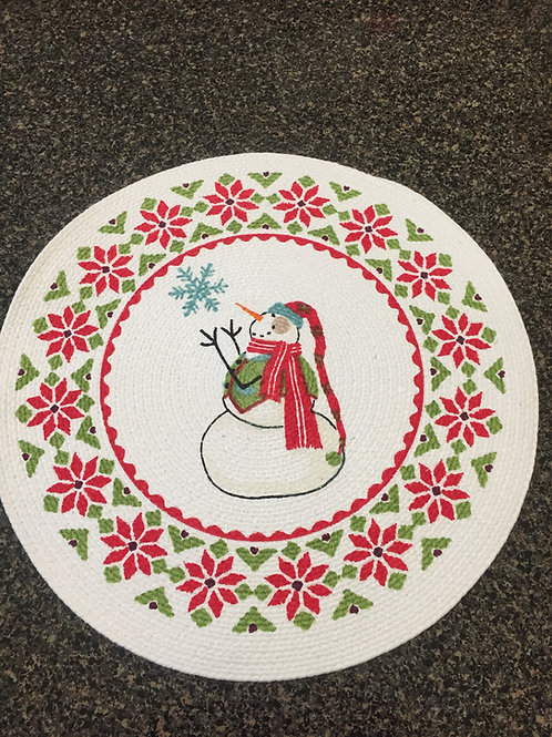 Snowman Braided Placemat