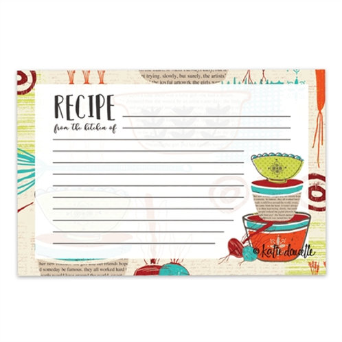 Made with Love Recipe Cards