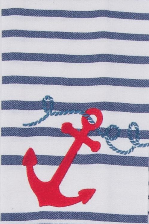 Anchors Aweigh Tea Towel