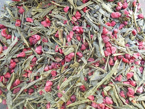 2874-Bulk Raspberry Flavored w/Fruit,Green,Org,1lb