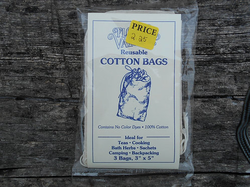 Reusable Cotton Bags, 3 ct.