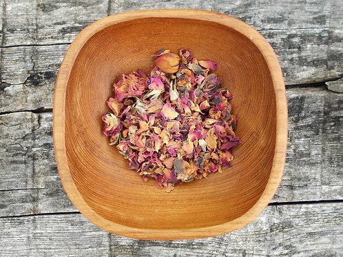 641-Bulk Roses, Red Buds & Petals, 1 lb.