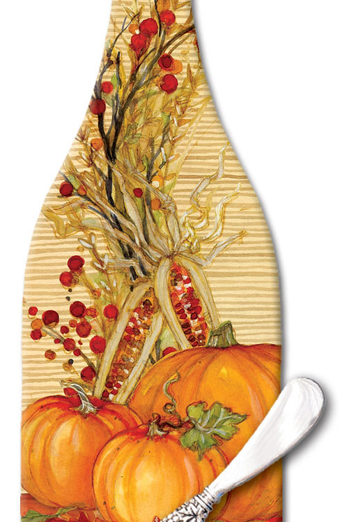 Autumn Array Wine Bottle Cheese Board
