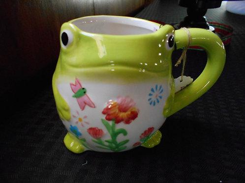 Floral Frog Fun Mug