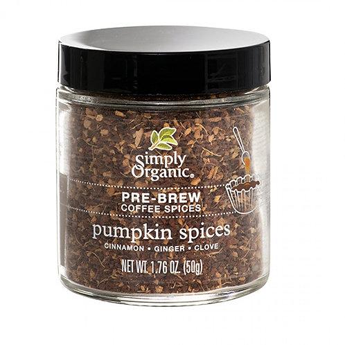 Pumpkin Pre-Brew Coffee Spice, Organic