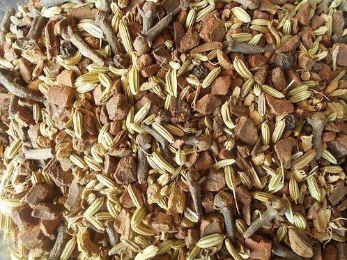 1304-Bulk Indian Spice Blend, Herbal Chai, 1 lb.