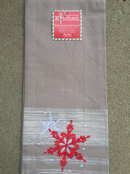 Winter Sparkle Snowflakes Tea Towel